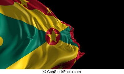 Flag of Grenada - Beautiful 3d animation of Grenada flag...
