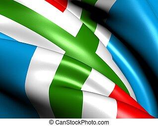 Flag of Groningen, Netherlands. Close up.
