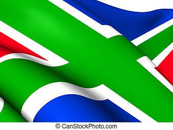 Flag of Groningen Province, Netherlands.