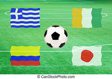 flag of group C soccer world cup 2014