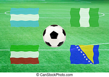 flag of group F soccer world cup 2014