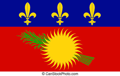 flag of Guadeloupe (french region)