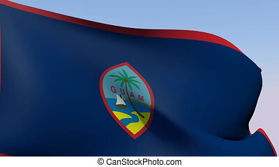 Flag of Guam - Flags of the world collection - Guam