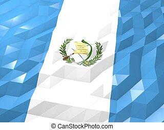 Flag of Guatemala 3D Wallpaper Illustration