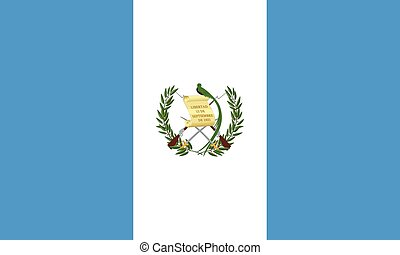 Flag of Guatemala, correct size and colors, vector