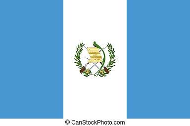 Flag of Guatemala Vector illustration
