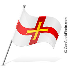 flag of Guernsey vector illustration