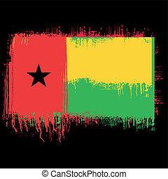 flag of Guinea Bissau - grunge illustration of flag of...
