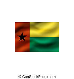 Flag of Guinea-Bissau.