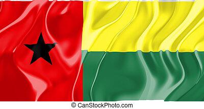 Flag of Guinea Bissau, national country symbol illustration