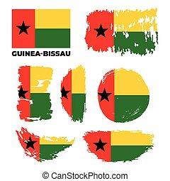 Flag of Guinea-Bissau. Vector illustration on white background.