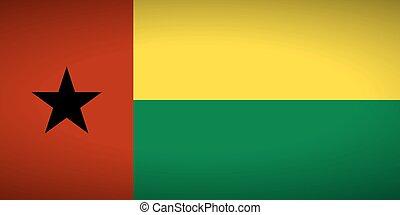 Flag of Guinea-Bissau. Vector illustration.