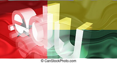 Flag of Guinea Bissau wavy education - Flag of Guinea...