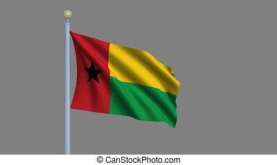 Flag of Guinea-Bissau with alpha matte