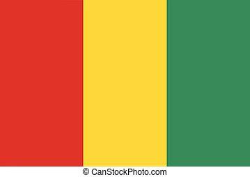 Flag of Guinea vector illustration