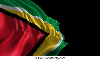 Flag of Guyana - Beautiful 3d animation of Guyana flag with...