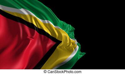 Flag of Guyana - Beautiful 3d animation of Guyana flag with...