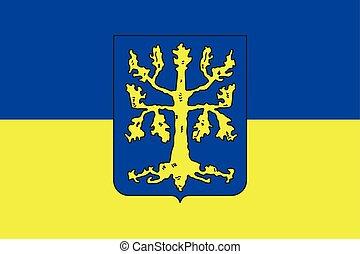 Flag of Hagen, Germany. Vector Format.