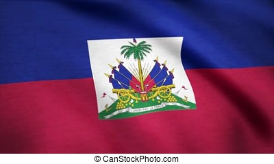 Flag Of Haiti Background Seamless Loop Animation. Flag of...