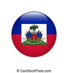 Flag of Haiti button Vector illustration