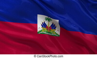 Flag of Haiti - seamless loop - Flag of Haiti gently waving...