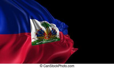 Flag of Haiti - Beautiful 3d animation of Haiti flag with...