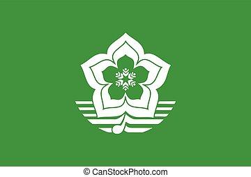 Flag of Harbin, China. Vector Format