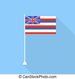 Flag of Hawaii. Vector illustration .