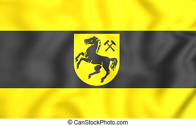Flag of Herne, Germany (North Rhine-Westphalia) - 3D Flag of...