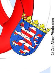 Flag of Hesse, Germany. - 3D Flag of Hessen Land, Germany....