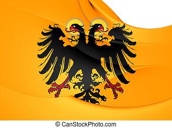 Flag of Holy Roman Empire (1400-1806). Close Up.