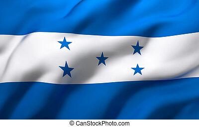 Flag of Honduras blowing in the wind
