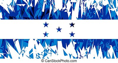 Flag of Honduras.