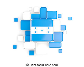 Flag of honduras, mosaic background