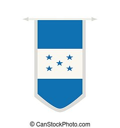 Flag of Honduras on a banner