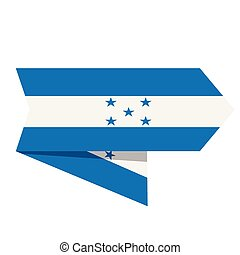 Flag of Honduras on a label