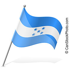 flag of Honduras vector illustration