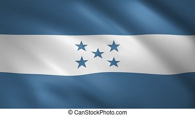 Flag of Honduras waving in the wind