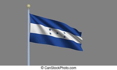 Flag of Honduras with alpha matte