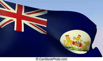 Flag of Hong Kong 1959 - Flags of the world collection -...