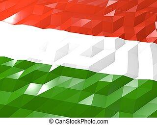 Flag of Hungary 3D Wallpaper Illustration
