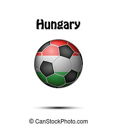 Flag of Hungary in the form of a soccer ball