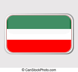 Flag of hungary in the form. vector