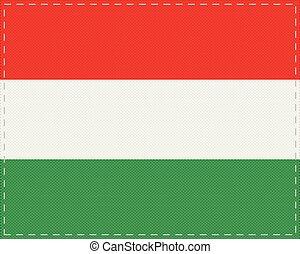 Flag of Hungary on cloth