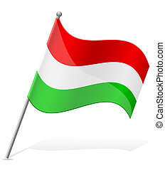 flag of Hungary vector illustration isolated on white...