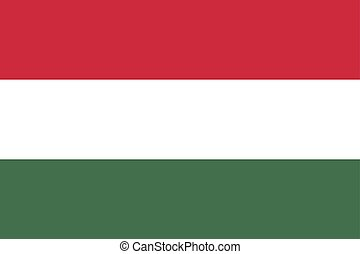 Flag of Hungary vector illustration