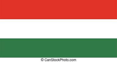 Flag of Hungary vector illustration