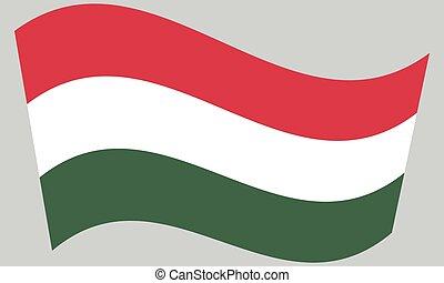 Flag of Hungary waving