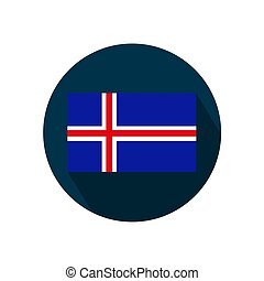 Flag of Iceland on a white background. Vector Image.