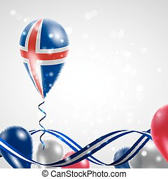 Flag of Iceland on balloon